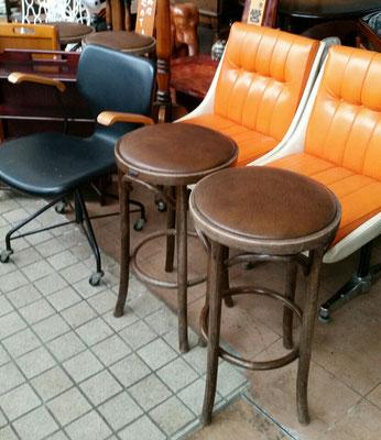 マルニ木工カフェチェア、レトロポップな椅子、剣持勇デスクチェア