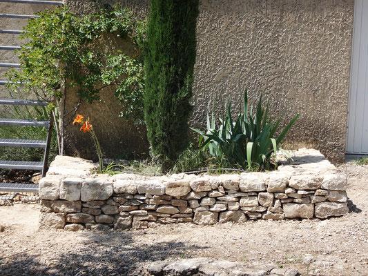 Vue de la jardinière achevée