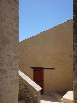Vue des bâtiments remaniés