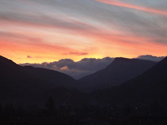 Crépuscule à Castellane