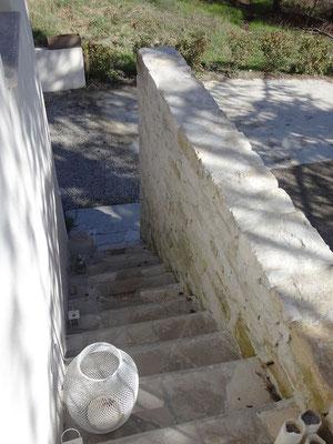 Vue depuis le haut de la terrasse