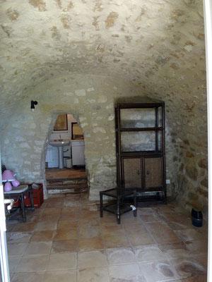 L'une des chambres à l'ouverture du chantier