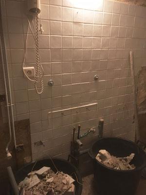 Dépose des équipements sanitaires et évacuation des gravas