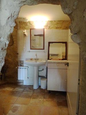 Vue la salle d'eau à l'ouverture du chantier