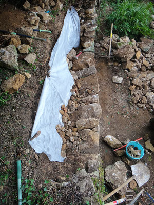 Vue depuis l'arase du mur