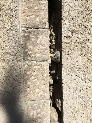 Détail de détail de l'ouverture de la façade