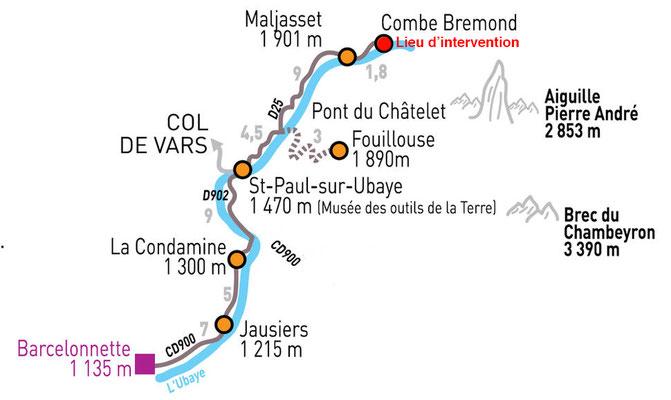Il faut traverser toute la vallée de Saint paul pour atteindre le chantier...