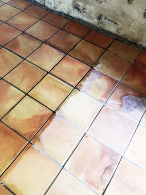 Un passage à l'huile de lin + essence de térébenthine s'impose pour redonner de l'éclat au dallage