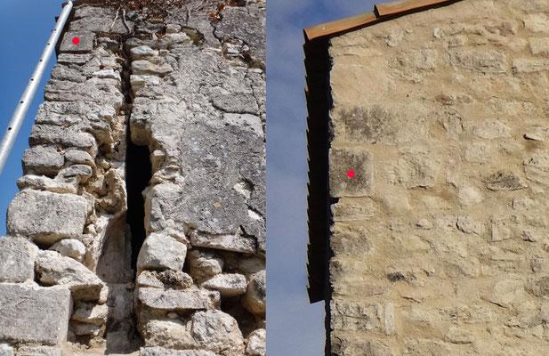 Reprise de maçonnerie. Le mur pignon est totalement désolidarisé de la chaîne d'angle, ce qui nécessite une maçonnerie totalement repensée