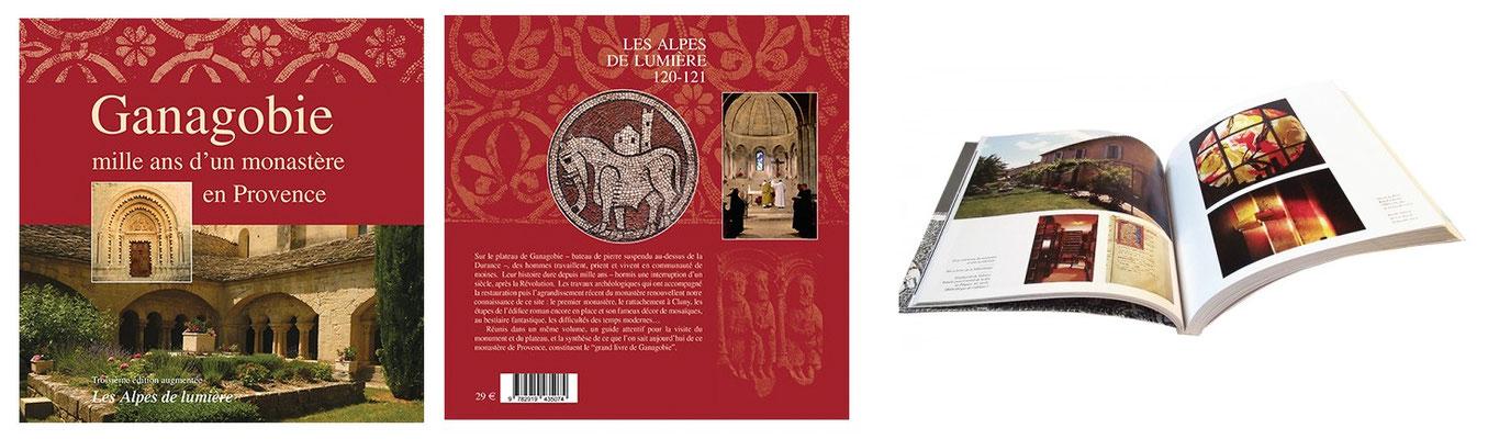 """""""Ganagobie, mille ans d'un monastère en Provence"""" reste l'ouvrage indispensable pour celui qui s'intéresse à l'historique, à l'architecture de l'église (portail,mosaïque, cloître...) et à  la vie de la communauté des moines bénédictins en résidence."""