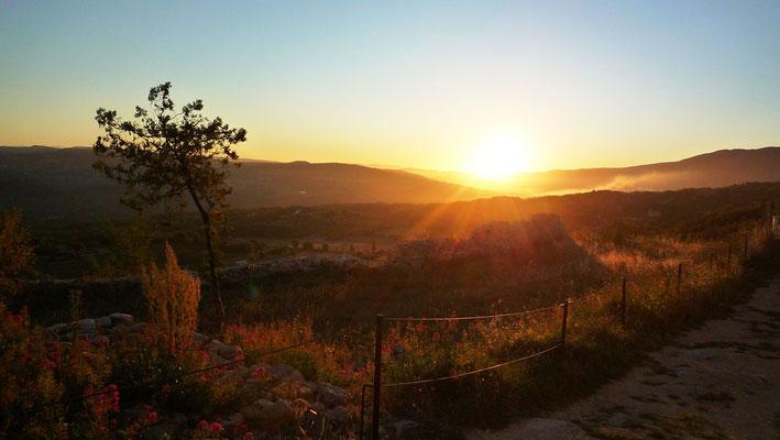 Coucher de soleil depuis le Rocher de Saignon