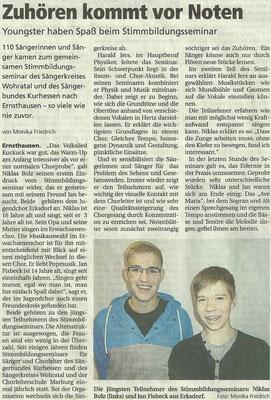 Stimmbildung Ernsthausen 2013