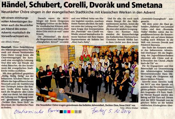 Adventskonzert in Neustadt 2014