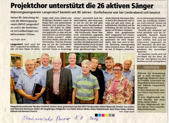 Jubiläum Langendorf