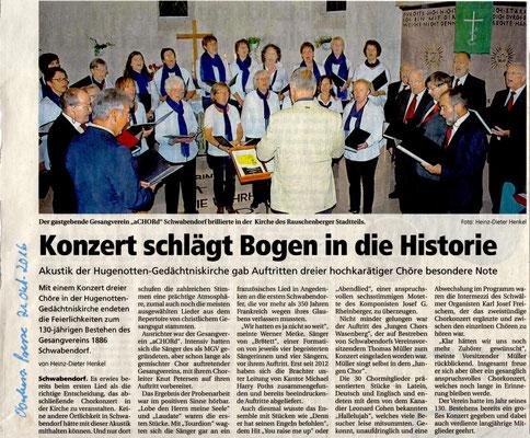 Konzert in Schwabendorf