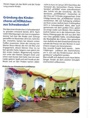 Kinderchor Schwabendorf  - Chorsänger