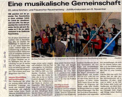 Ankündigung Konzert in Rauschenberg
