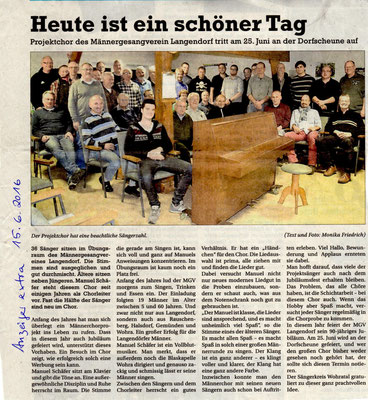 Projektchor Langendorf
