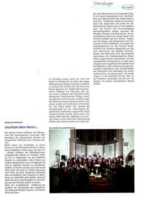 Konzert in Momberg 2014