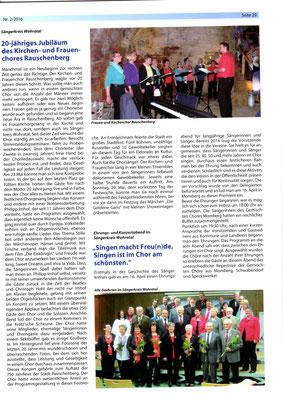 Chorzeitung des MSB1