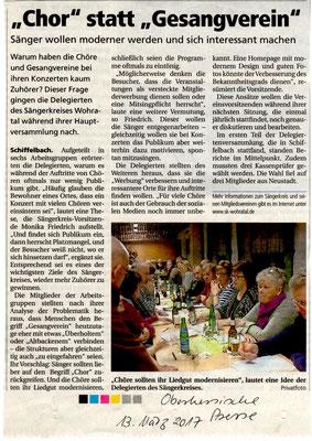 Delegiertenversammlung 2017 in schiffelbach