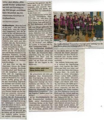Kirchenkreismusikfest unter Mitwirkung des Kirchen- und Frauenchores Rauschenberg-2