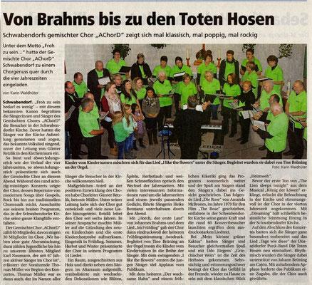 Konzert in Schwabendorf 2014