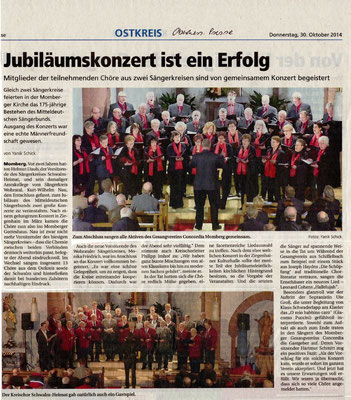Konzert in Momberg- Oberhessische Presse