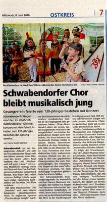 Jubiläum in Schwabendorf
