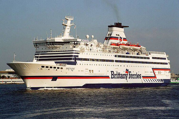Bretagne en pleine mer. Photo Brittany Ferries.