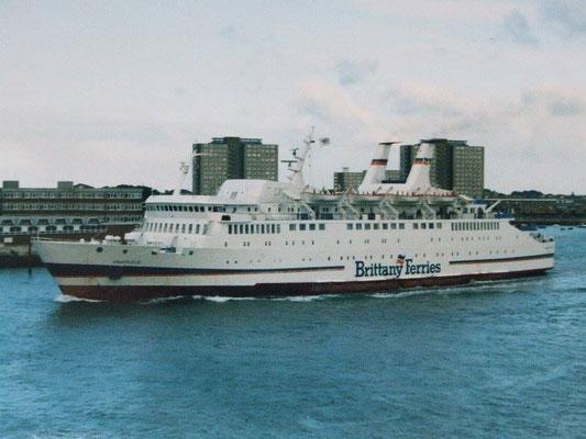 Armorique (1) à Portsmouth. Photo Brittany Ferries.