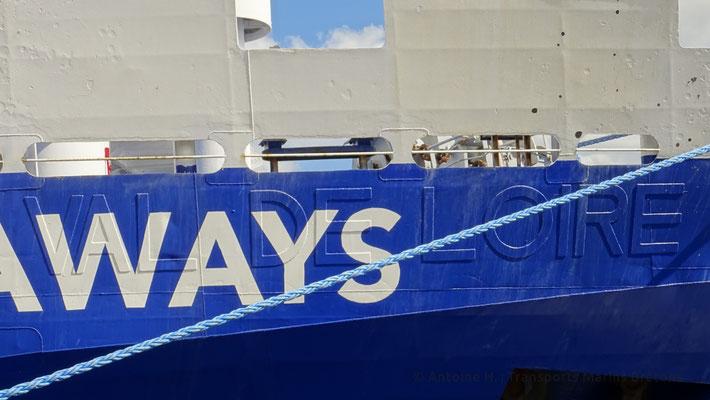L'ancien nom de King Seaways est toujours visible. Photo Antoine H.