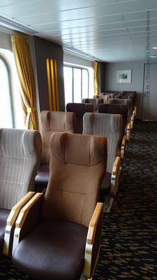 Rangée de sièges au pont 8
