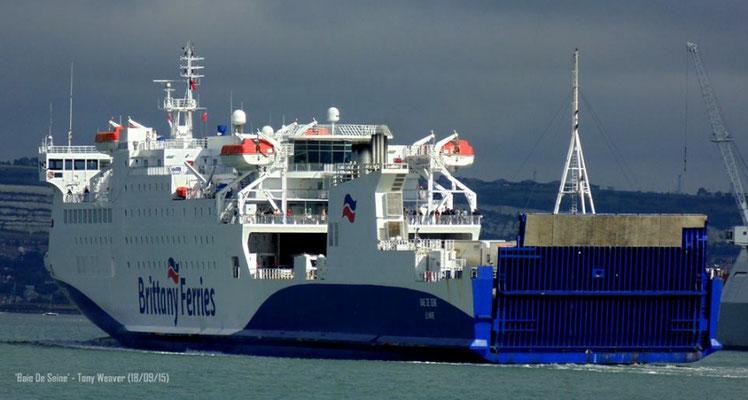 Baie de Seine arrivant à Portsmouth. Photo Tony WEAVER.