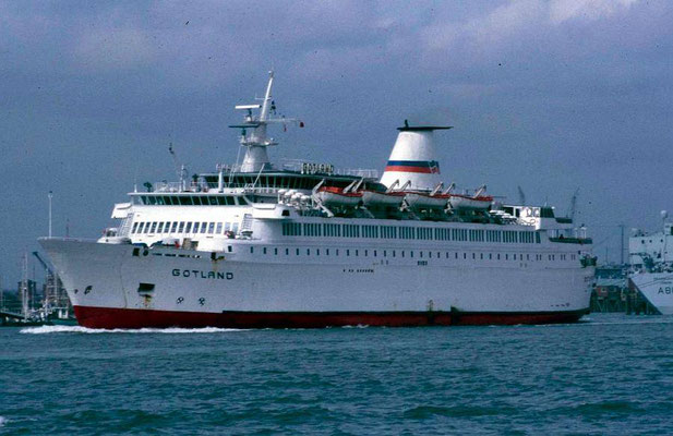 Le M/V Gotland (1988), photo : Brittany Ferries