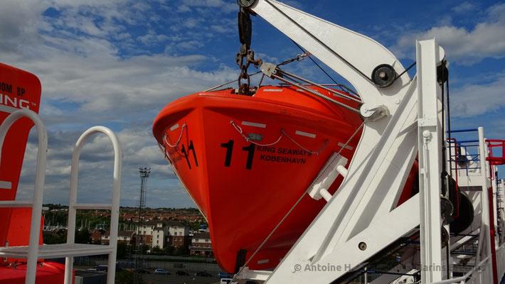 Canot de sauvetage. Photo Antoine H.