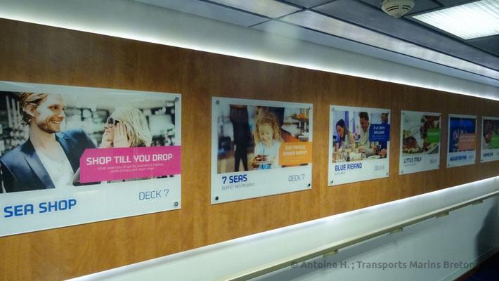 Images présentant les services proposés à bord. Photo Antoine H.