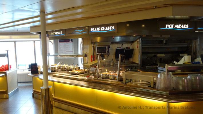 Comptoir des plats chauds du Bretagne