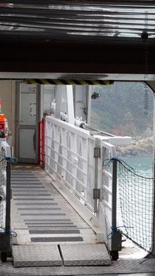 La coupée par laquelle les passagers piétons embarquent