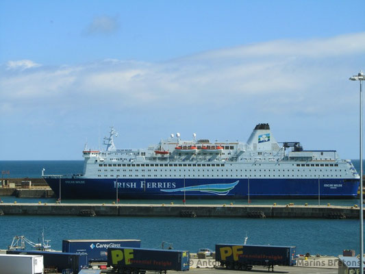 M/V Oscar Wilde à Rosslare, photo : Antoine