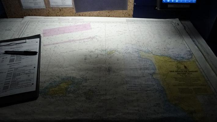 Carte marine du secteur du Cotentin