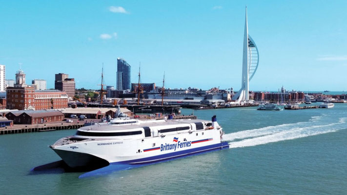 Normandie Express arrivant à Portsmouth. Photo Brittany Ferries.