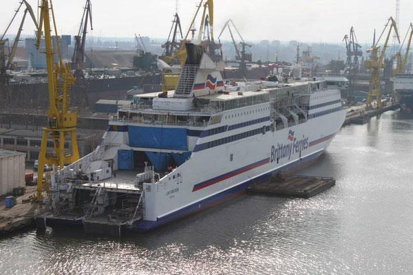 Cap Finistère en entretien. Photo Brittany Ferries.