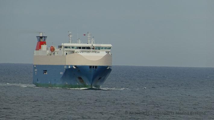 Navire RoRo arrivant à North Shields. Photo Antoine H.