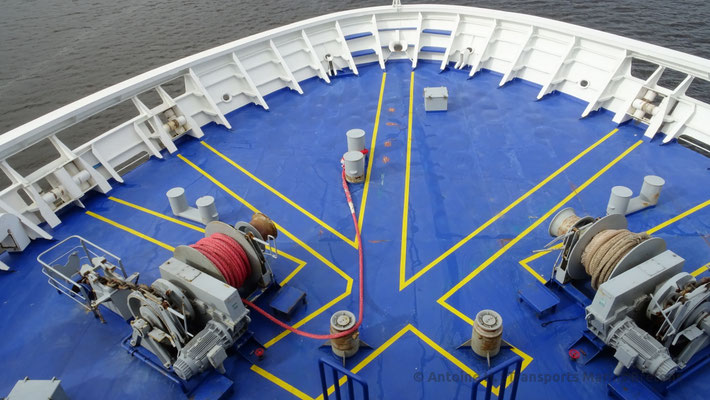 Vue sur la proue de King Seaways. Photo Antoine H.
