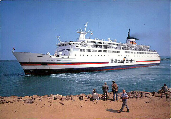 Le M/V Duc de Normandie (1986-2002), photo : Brittany Ferries