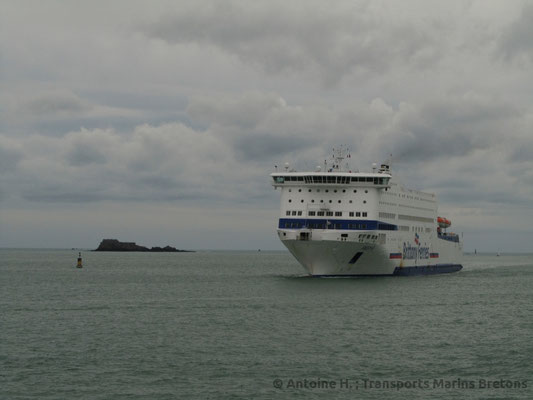Armorique arrivant à Saint-Malo. Photo Antoine H.