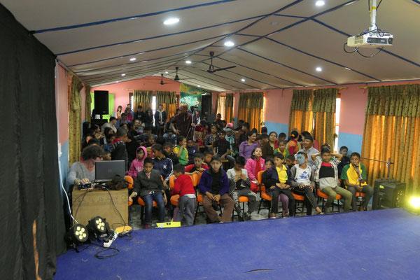 Publikum bei der Abschluss - Show