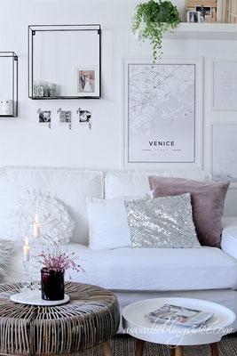 Frühlingsdekoration Kerzen Ginster Mapiful Venice Wohnzimmer