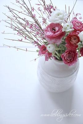 Frühlingsblumen Ranunkeln Vase Long Island Living